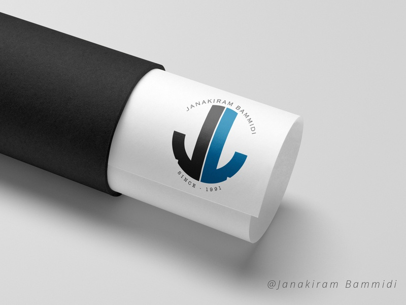 Jb Logo typography vector illustration graphic design colorful branding poster background logo