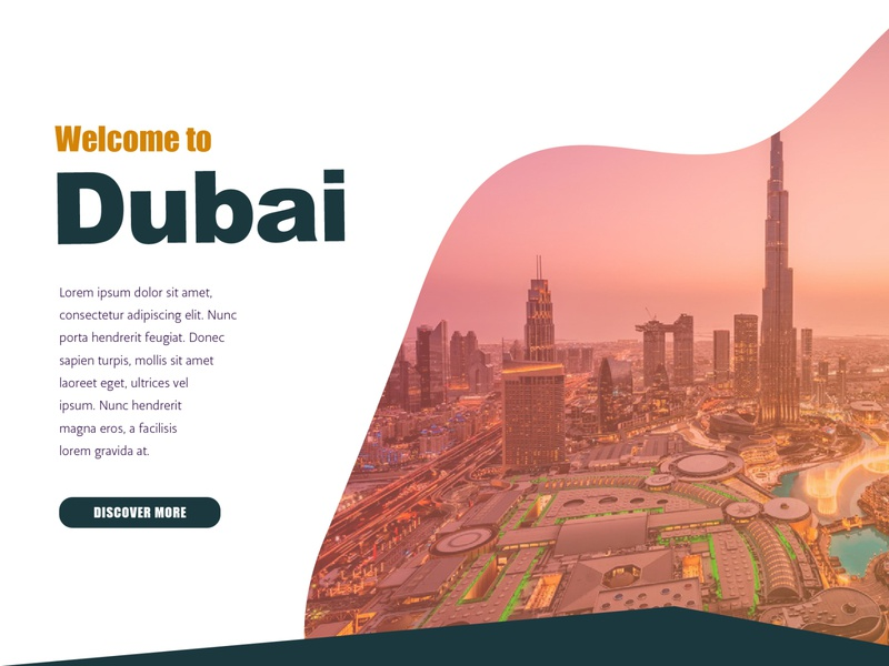 Dubai Graphics web vector branding design illustration graphic poster colorful layout background