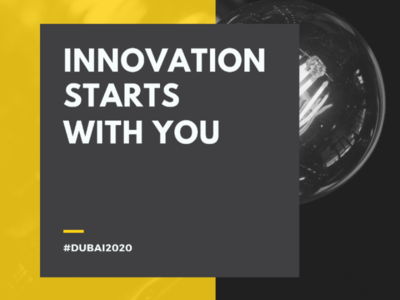 Innovation Starts With You background color black yellow templates design banner talent engineering technical tech technology idea ideas innovation