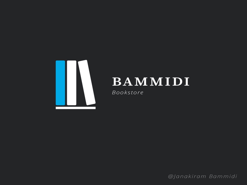 Bookstore Logo color illustration graphic colorful layout design branding logo poster background