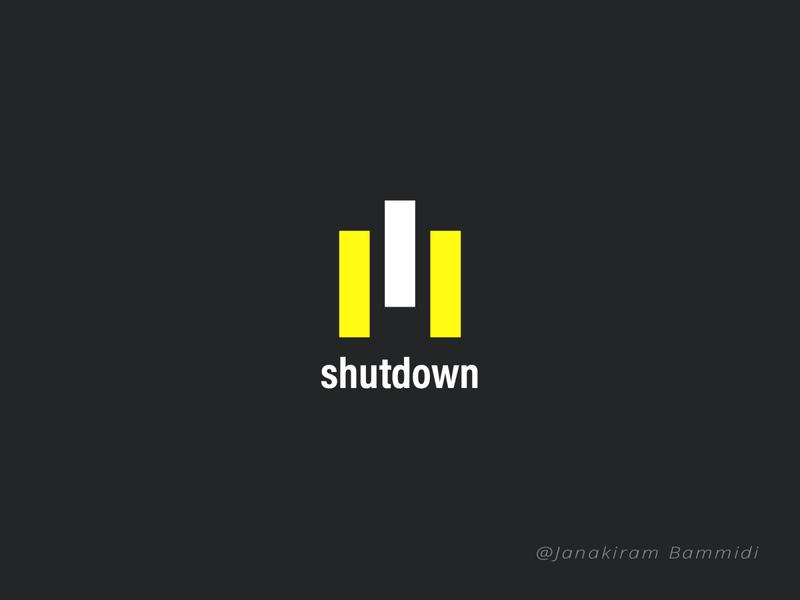 Shutdown Logo typography vector graphic colorful layout design logo branding poster background