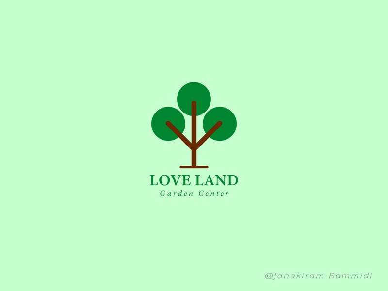 Love Land layout graphic color vector typography illustration colorful design logo branding poster background