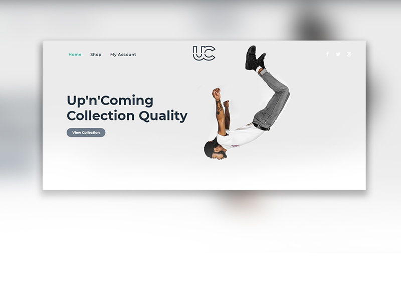Clothing Webshop Design design ux typography webshop ecommerce website webdesign ui