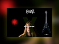 Web Design for a Hungarian Metal Band