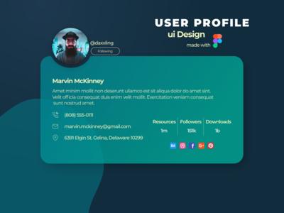 User Profile Day# 011 profile userprofile user ux web ui web design uiux uidesign ui design