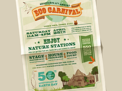 Eco Carnival Logo + Event Materials Design event flyer poster logo art direction design