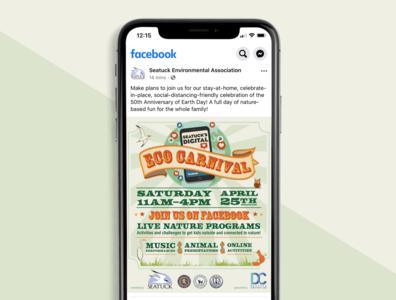 Digital Eco Carnival Logo + Social Event Materials Design social media branding illustration logo design