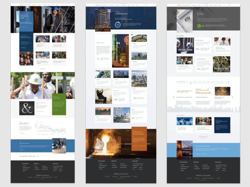 JPMorgan Chase Website Design + Style Guide website design web design ui style guide design