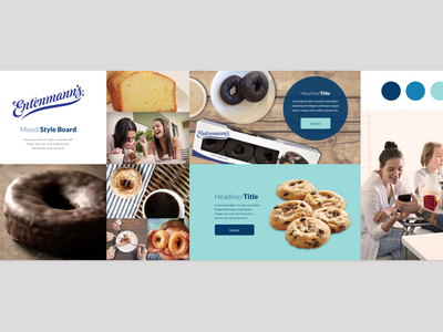 Entenmann's Website design mood/style board moodboard art direction design