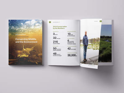 Seatuck 2019 Annual Report typography print report art direction design
