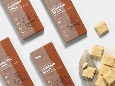 Insa Pumpkin Spice Chocolate Bar packaging design design