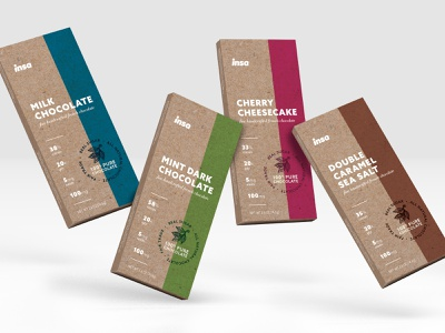 Insa Chocolate Bar Line packaging design design