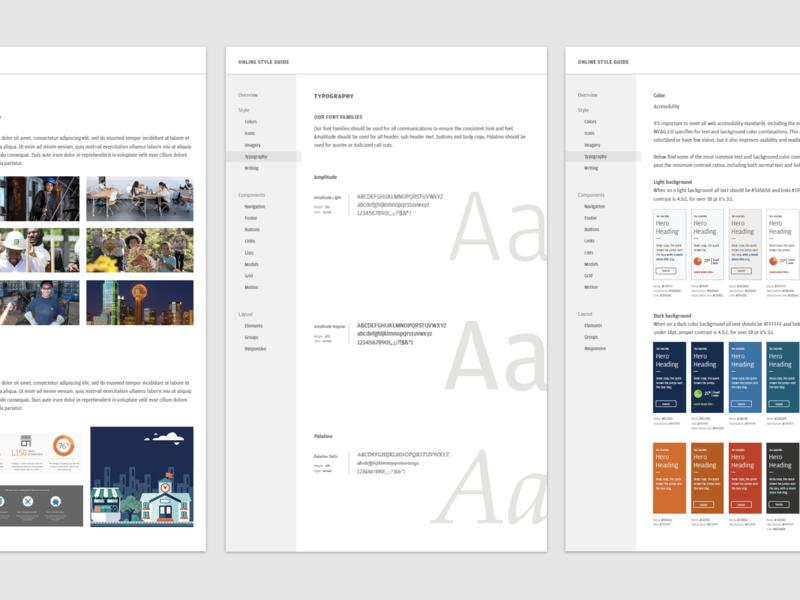 JPMorgan Chase Website Design + Style Guide ui elements accessibility style guide web design design
