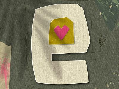 Letter E for #36daysoftype paper art lettering letter procreate art procreate typography type art papercut illustration 36daysoftype08 36daysoftype