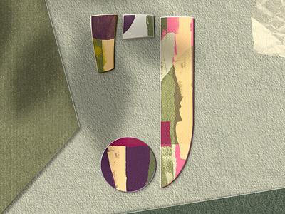 Letter J for #36daysoftype paper art procreate letter lettering 36daysoftype08 36daysoftype typography procreate art papercut illustration