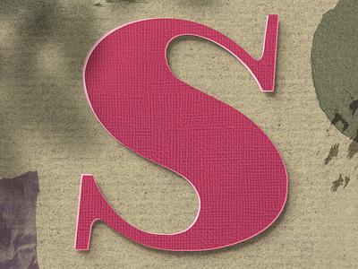 Letter S for #36daysoftype letter paper art typedesign illustration type art procreate lettering 36daysoftype08 36daysoftype typography