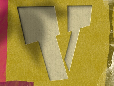 Letter V for #36daysoftype type art typedesign papercut procreate art illustration procreate typography lettering 36daysoftype08 36daysoftype