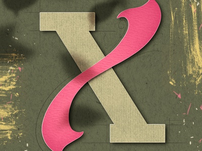 Letter X for #36daysoftype font type art papercut procreate art illustration procreate typography lettering 36daysoftype08 36daysoftype