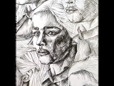 Khaleesi effects design inktober ink illustration