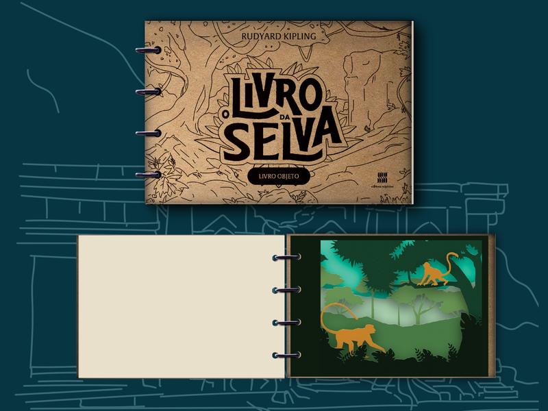 Livro da Selva booklet book cover logo mogli mowgli id visual booking book