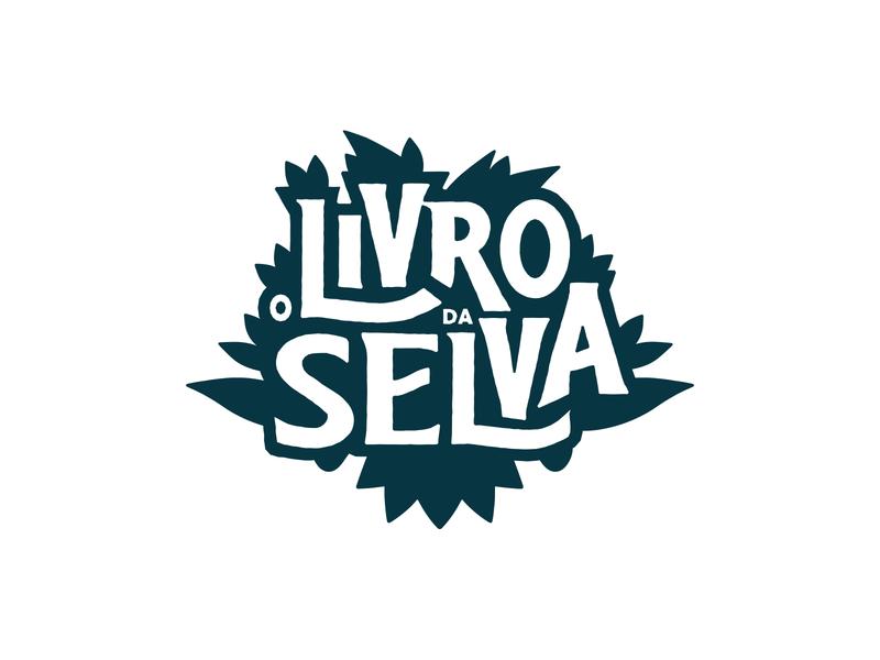 O Livro da Selva - Logo book cover jungle book logo design booking book