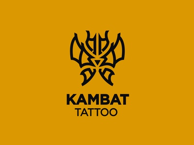 Kambat Tattoo logo design branding brand identity logofolio design graphicdesign logotype logo brand bird