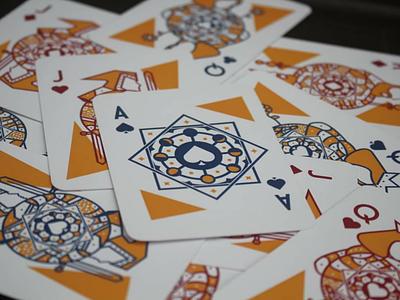 Baralho moon phases cards deck poker design illustration illustrator
