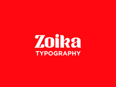 Zoika font display font free tipografia typo font fonte