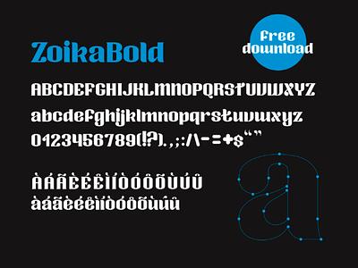 FREE   Zoika font typo tipografia free fonte font display font