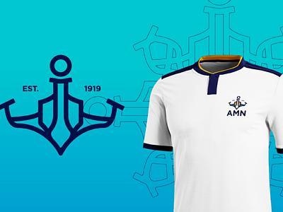 Abrigo do marinheiro mar naval marinheiro logotipos branding logo
