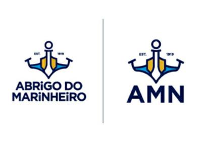 Abrigo do marinheiro ocean anchor marine mar marinheiro amn logotype branding brand logo
