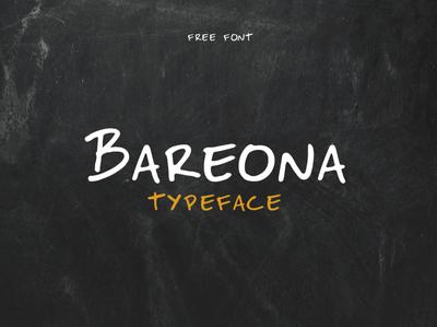 Bareona - Free Font freebie free brazi font brazillian font typogaphy free font