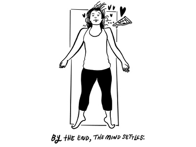 Yoga Mind - Pt. 4 illustration lettering autobigraphical comic yoga