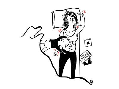 ZZZ autobiographical procreate illustration comic