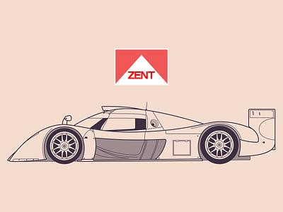 Toyota GT-One illustration toyota sketch race car car design design lineart blueprint vehicle car automobile