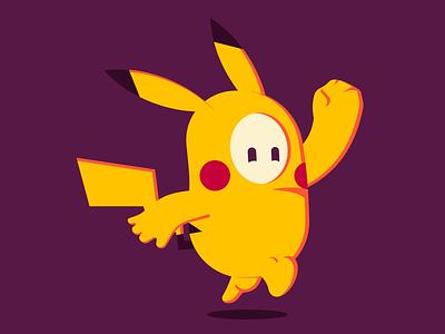 Fall Guys digital art illustraion fun stylized fallguys pokemon pikachu design