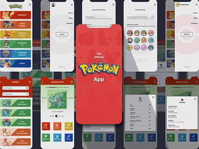 Pokémon App (WIP) design app design ui mobile app pokemon