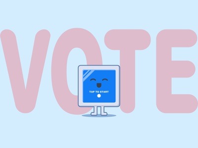 VOTE! sketchapp playful cute design art illustration