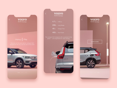 Volvo Screens pagination mobile volvo sketchapp pictures mobile design mobile app app