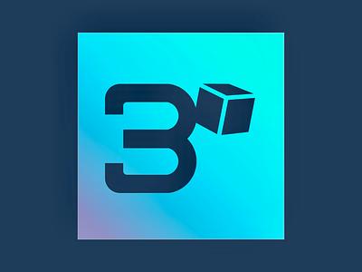 3 Cubed logo