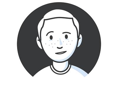 Oh Hey black and white minimalist simple design illustration design self portrait face portrait
