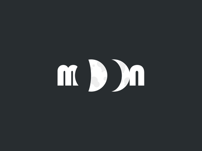 Moon Logo black and white design simple logo design logo moon