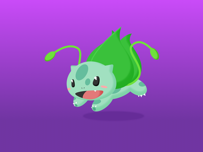Original Grass Monster illustration design sketch grass green cartoon pokemon bulbasaur