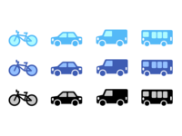 Simple Transportation Icons
