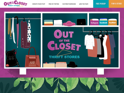 OutoftheCloset.org Hero web design