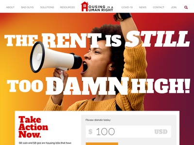 Housing is a Human Right - Website Rebrand design typography web design