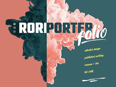 Rori Porter Portfolio graphic design web design portfolio design portfolio