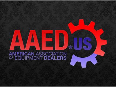 American Association of Equipment Dealers Logo flat icon illustration logo branding vector typography logo design