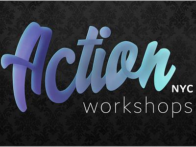 Action Workshops NYC Logo typography vector branding logo design logo