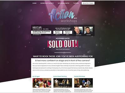 Action Workshops NYC Website Design web design